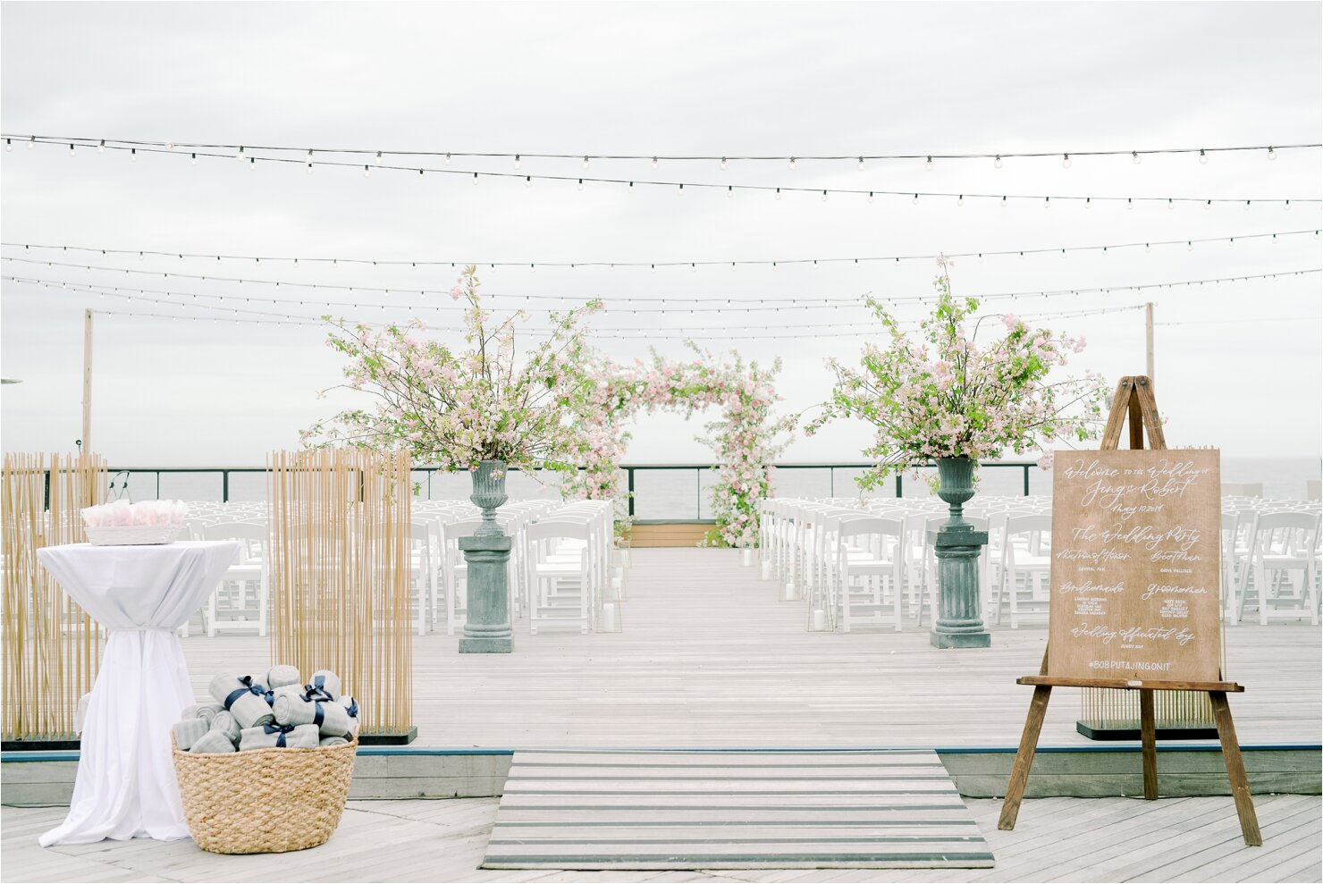 Forward Deck Outside Wedding Ceremony at Gurney's Montauk
