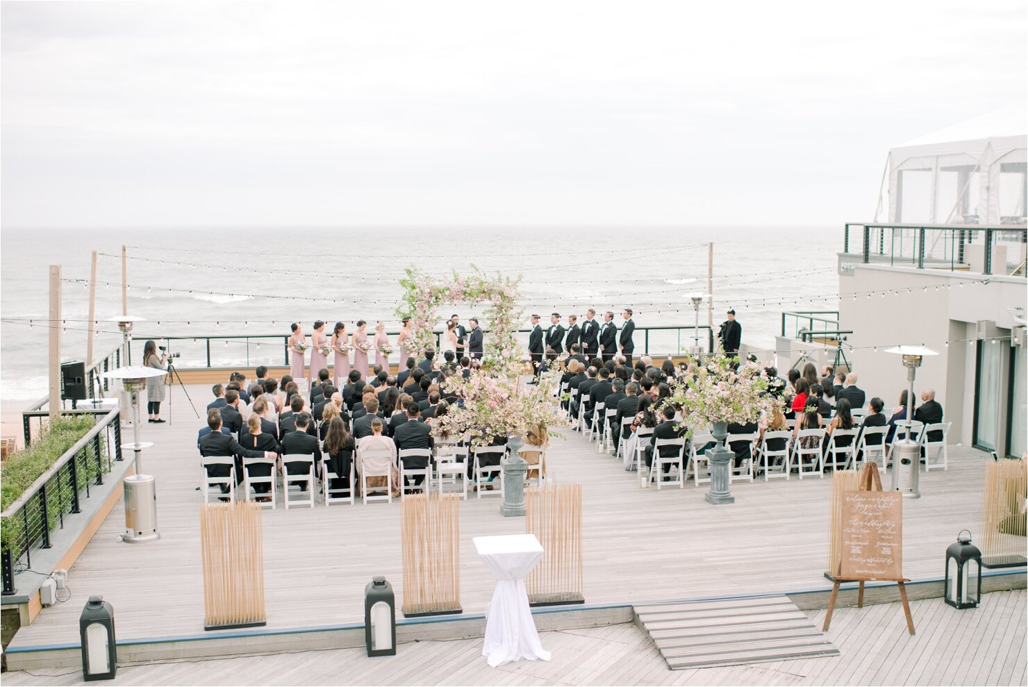 Outside Wedding Ceremony at Gurney's Montauk Forward Deck