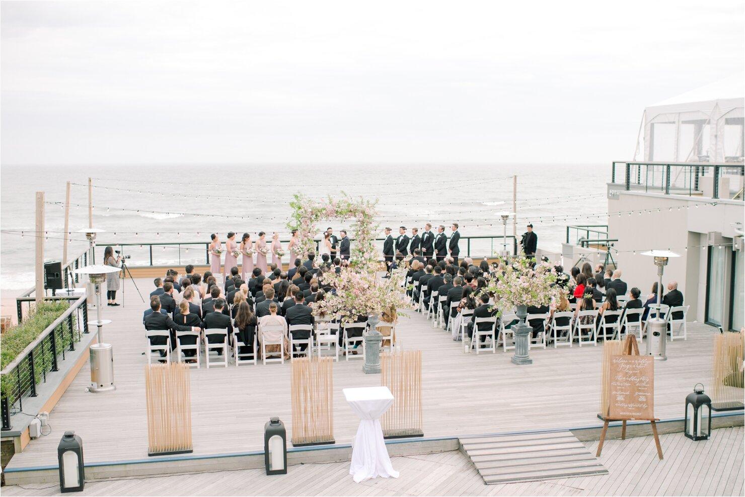 Outside Wedding Ceremony at Gurney's Montauk Forward Deck