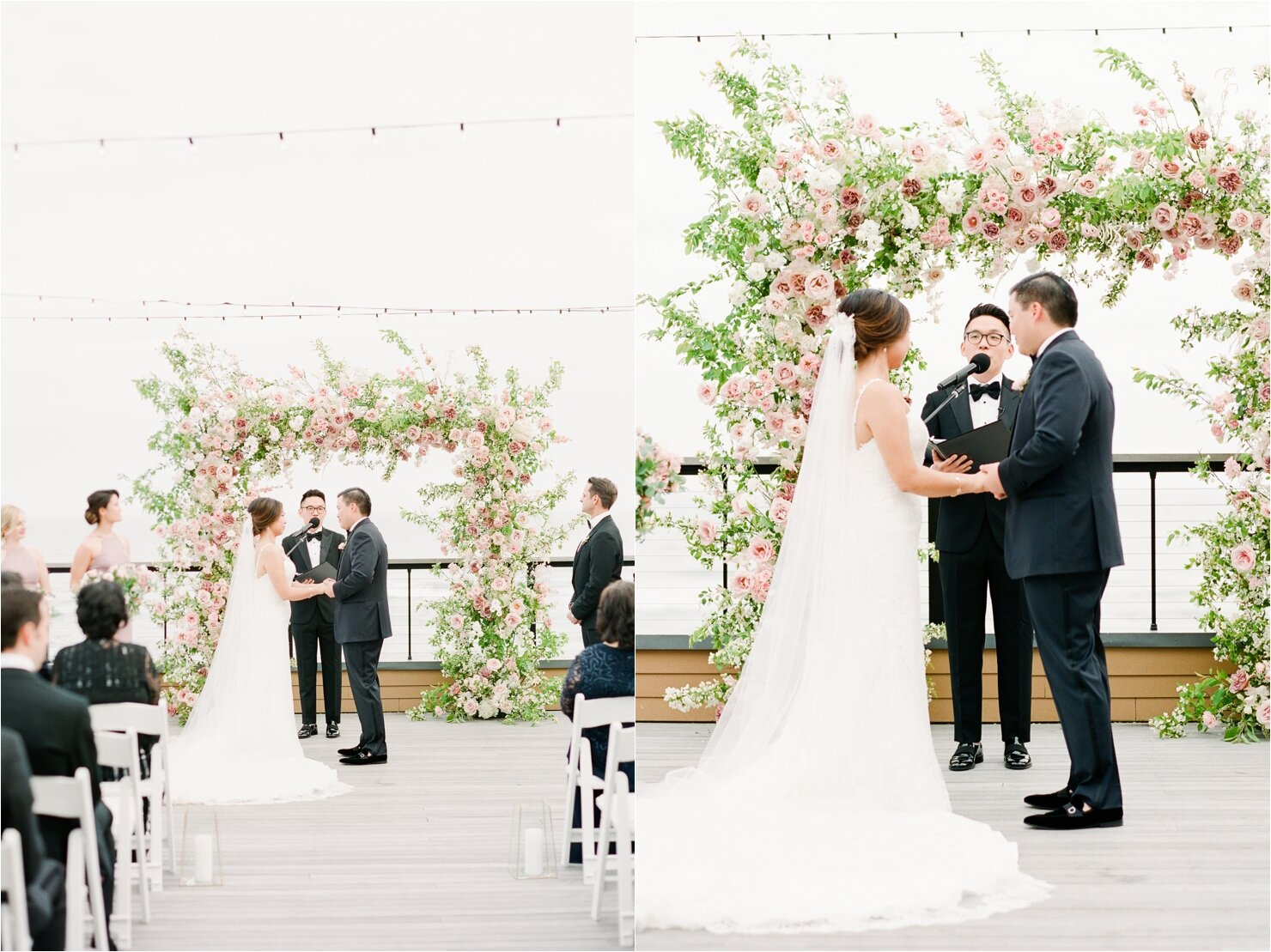 Bride and Groom Getting Married at Gurney's Montauk