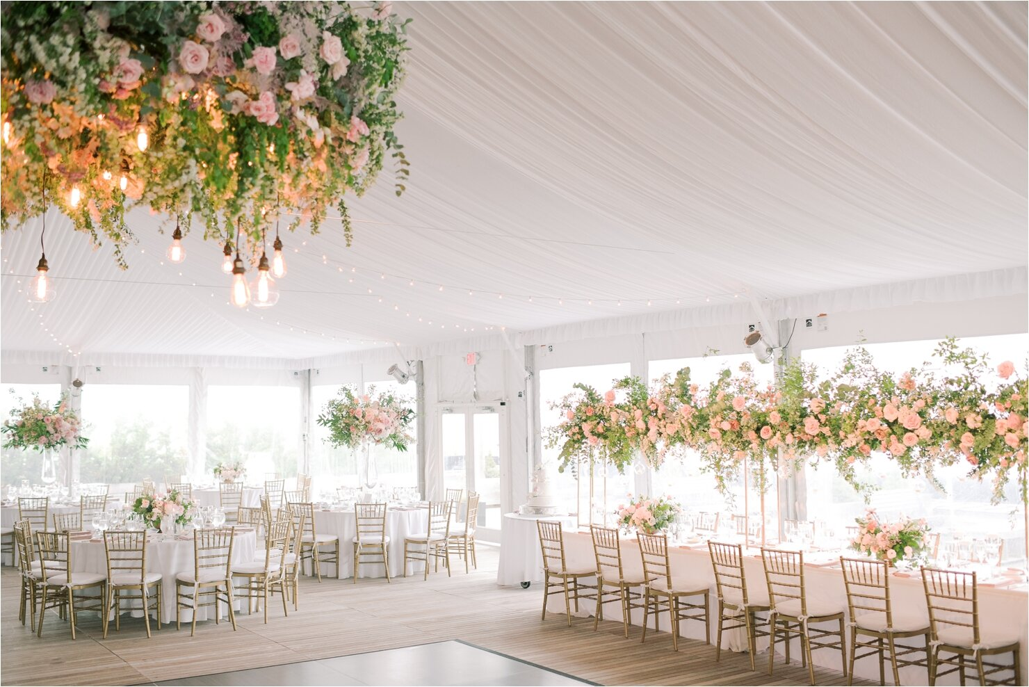 Tented Wedding Reception at Gurney's Montauk