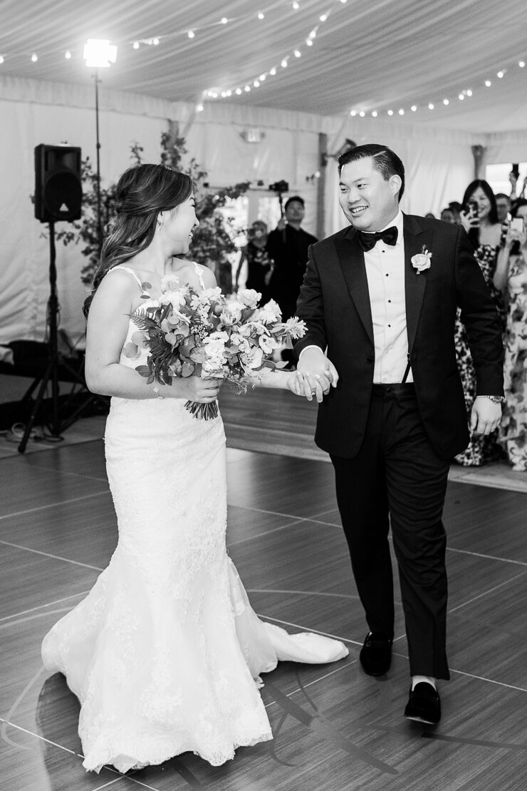 Bride and Groom enter Reception Space for First Dance
