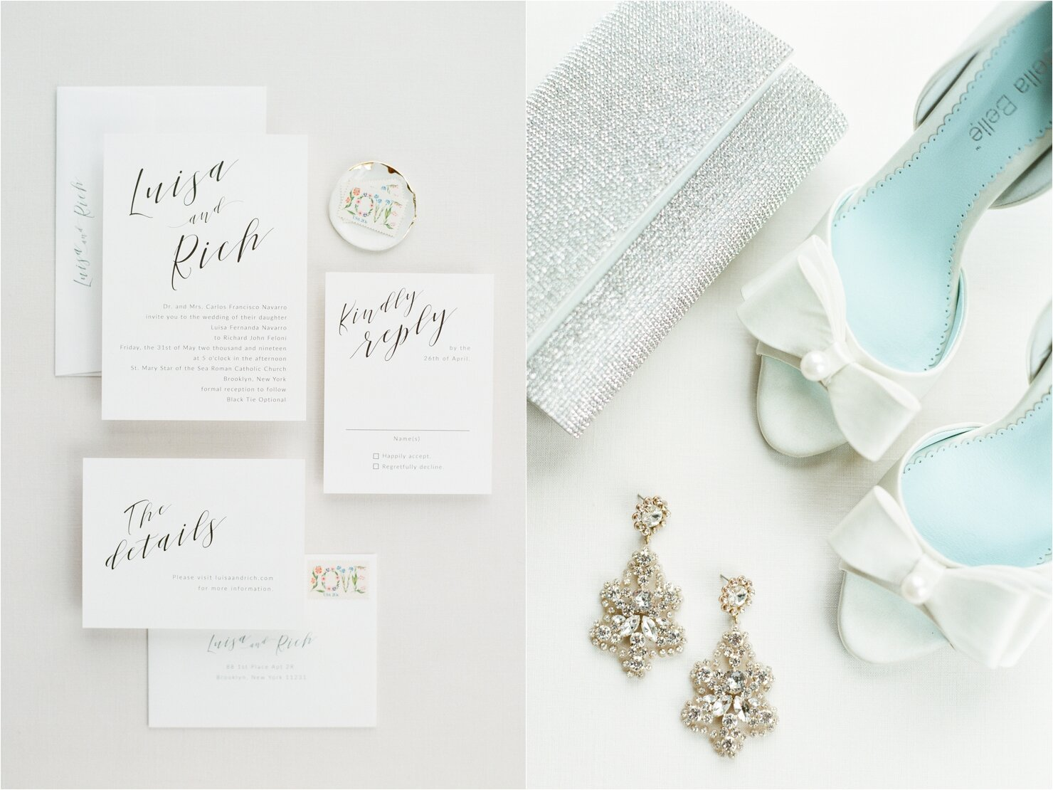 Wedding Day Details - Invitation and Bella Belle Shoes