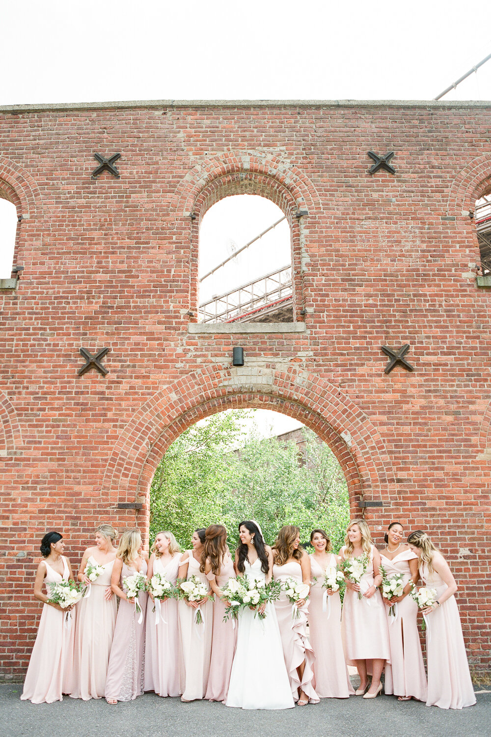 Bridal Party Photos at St. Anne's Warehouse in Brooklyn