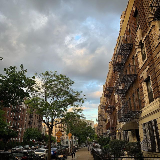 Nothing special: just the sky, on my block, on (what feels like) the first sunny day in May.