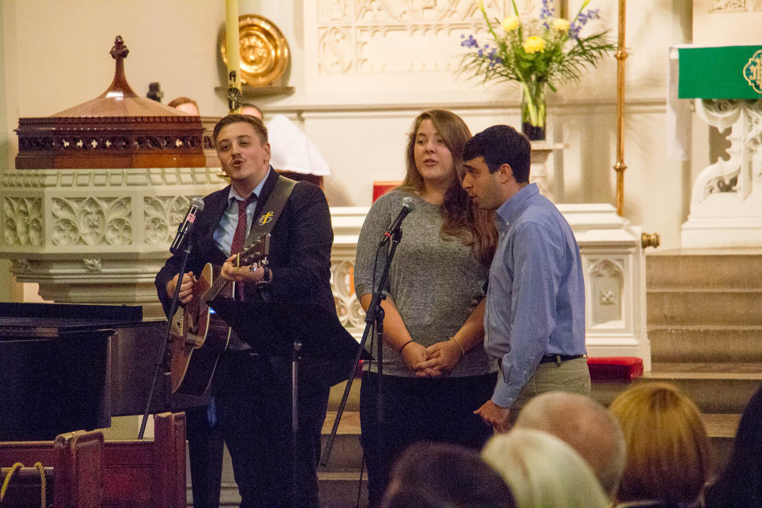 The service included wonderful special music, by this trio from Pinecrest (a youth leadership ministry Pastor Danielle also leads), and the Advent Chorale.