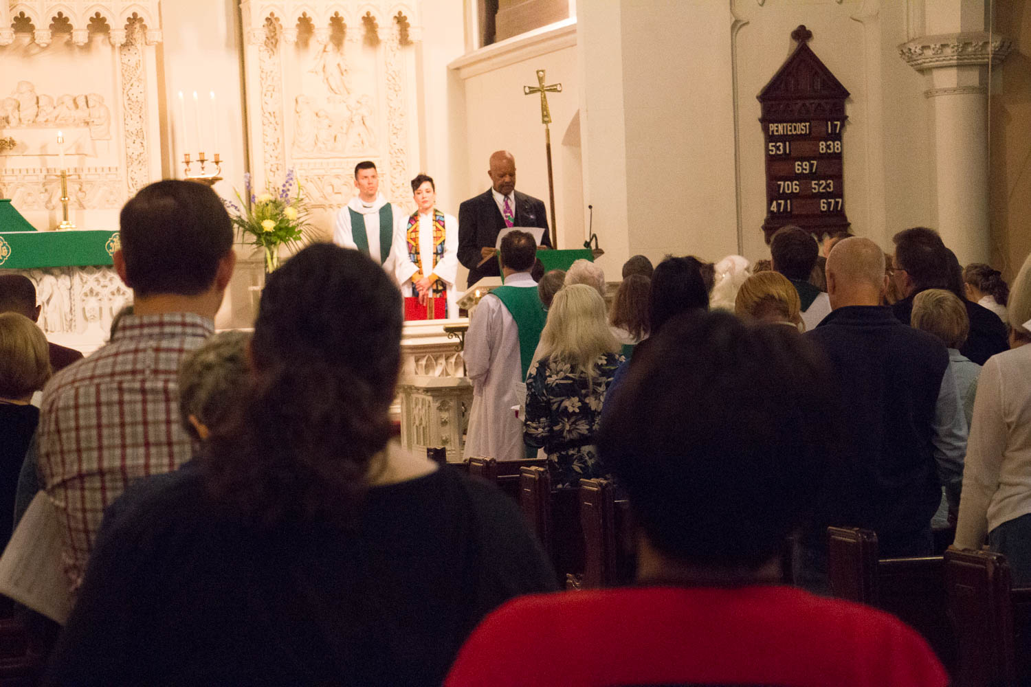 Advent members participated in the service in many ways, including reading the Word.