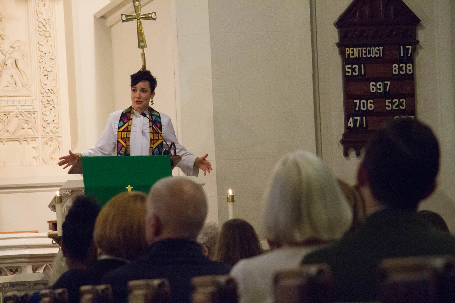 Pastor Stephanie Kershner, a friend of Pastor Danielle's and former seminary intern here at Advent, preached at the service. You can listen to her sermon below.