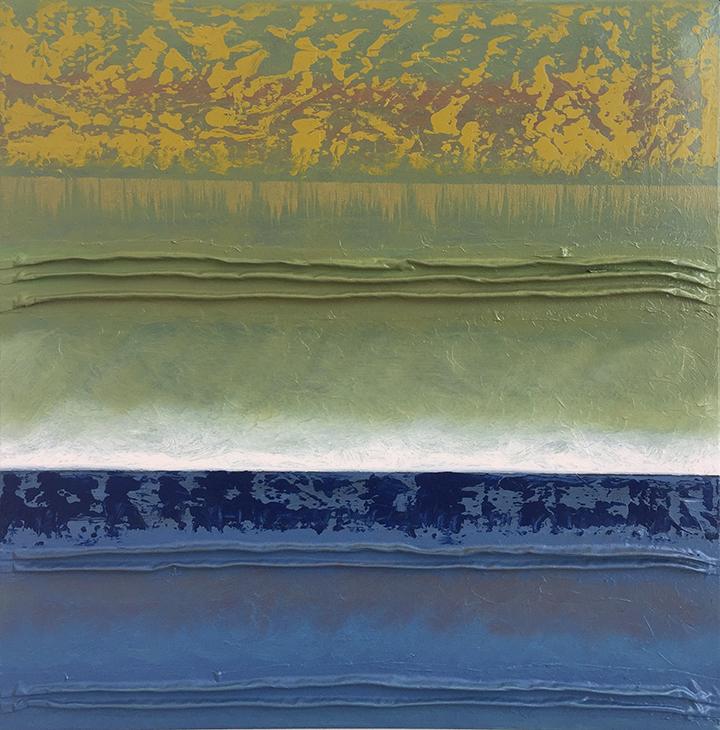 Adagio XXVII 24x24, oil and mixed media on canvas, $1500