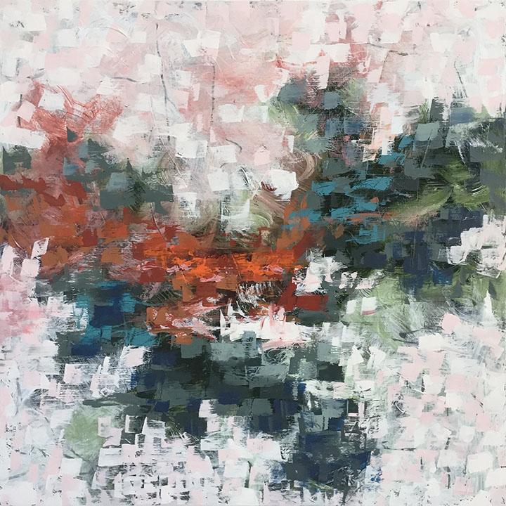 Raine 30x30, acrylic on canvas, $2500