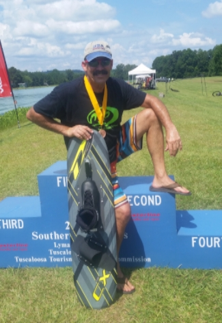 Another trick medal on my MOB system release at the Southern Regional Championships, Lymanland USA 7.20.2016