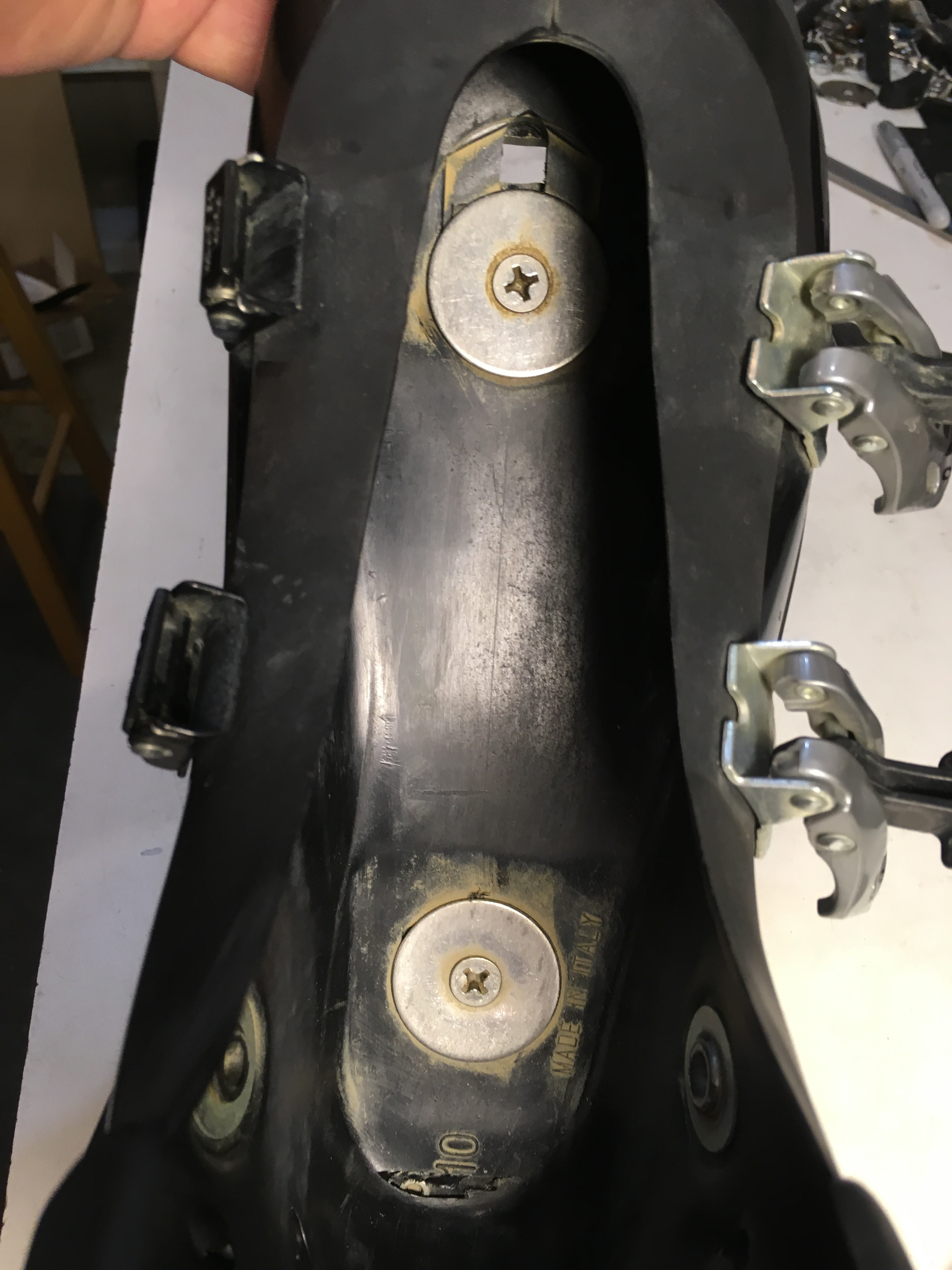 Mounting Screws from inside of boot.