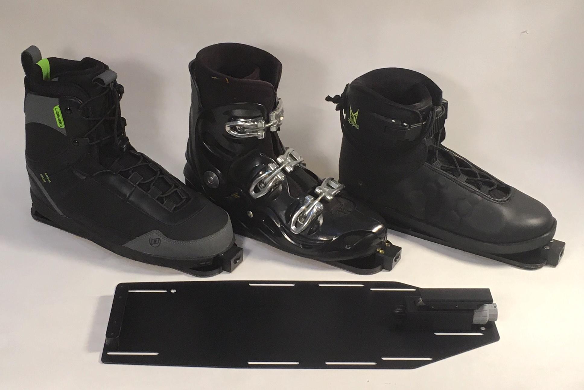 Three boot styles on MOB