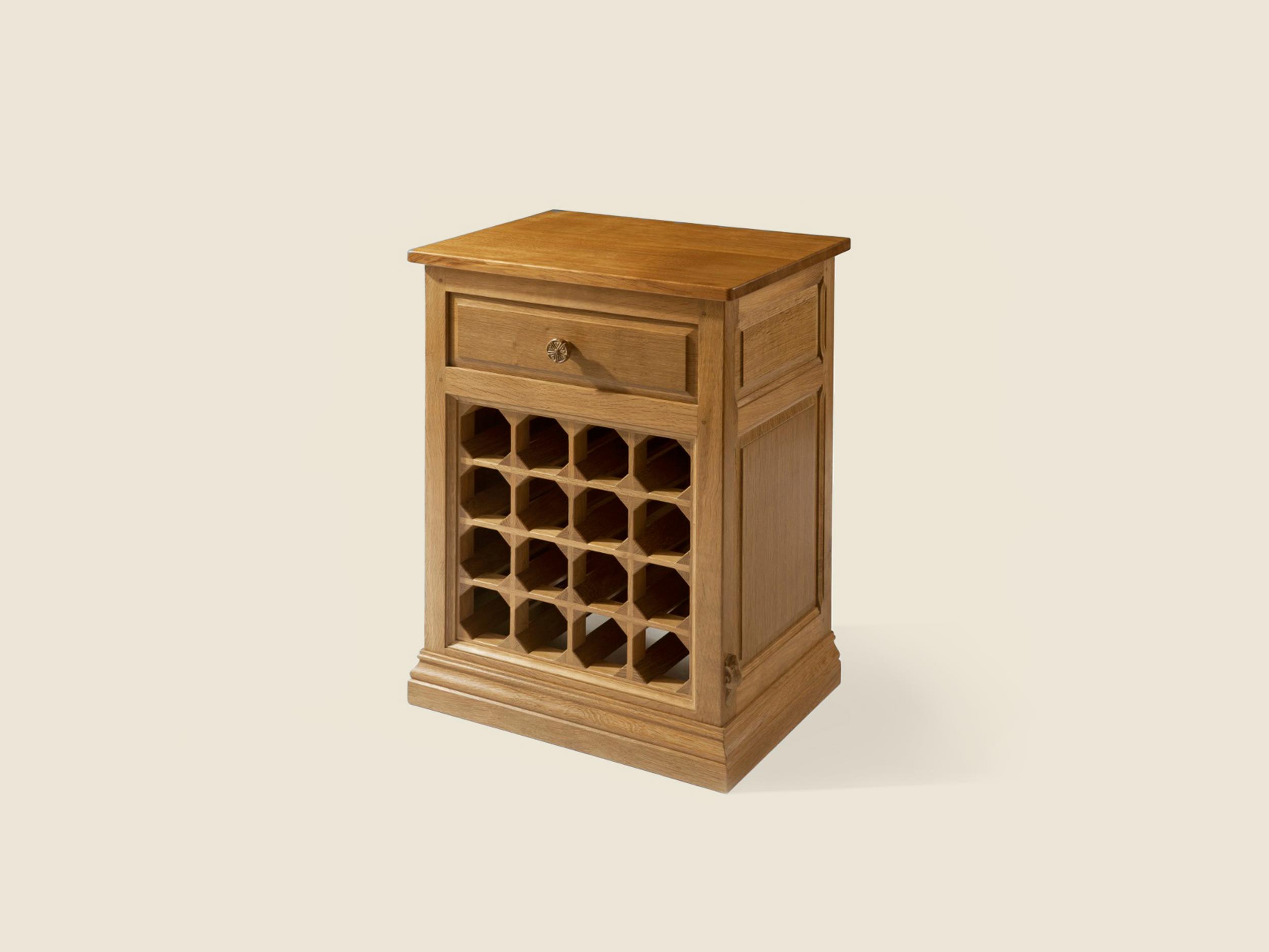 BF601 Solid Oak Wine Cabinet