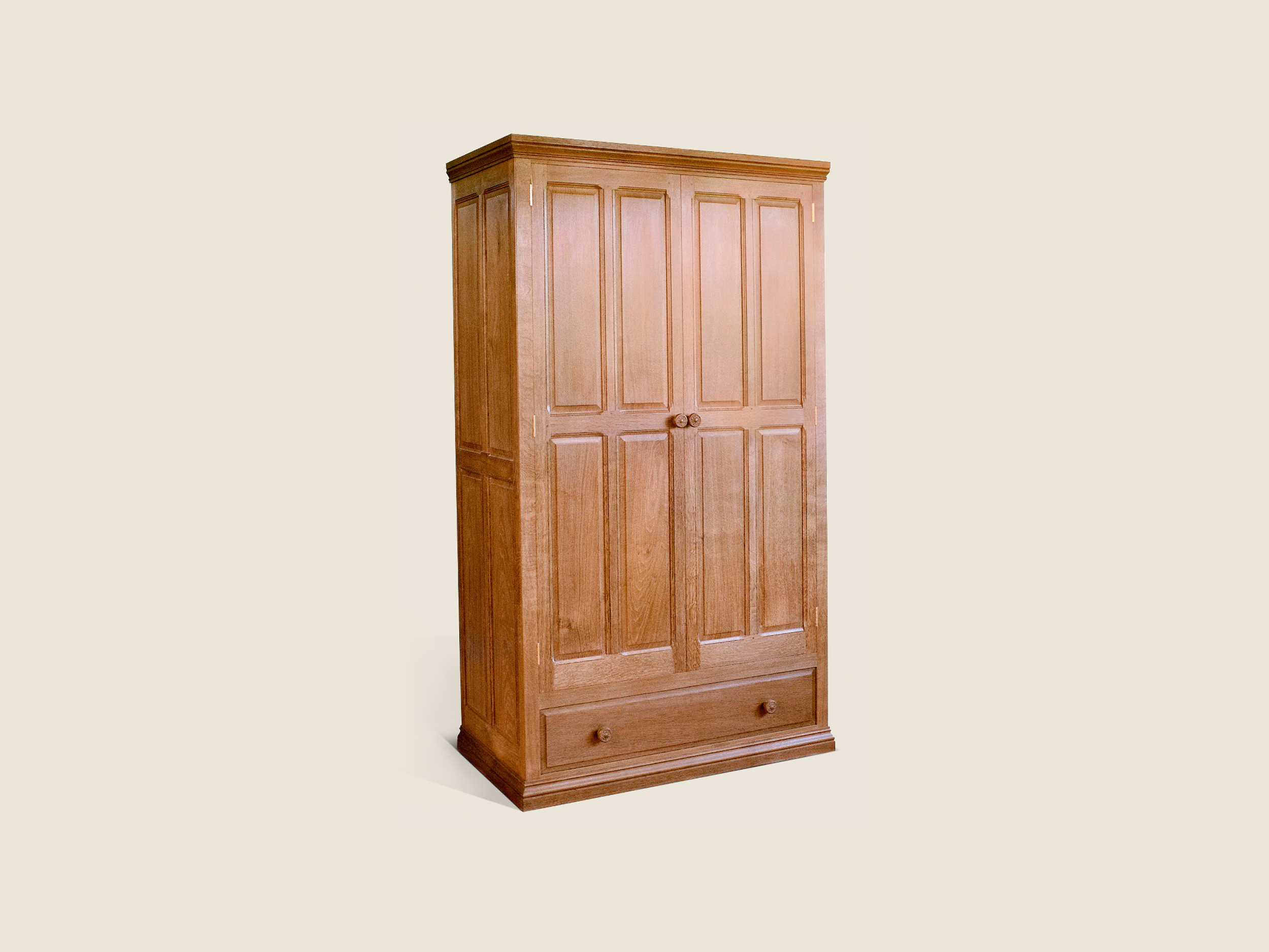 BF710 Oak Wardrobe with drawer