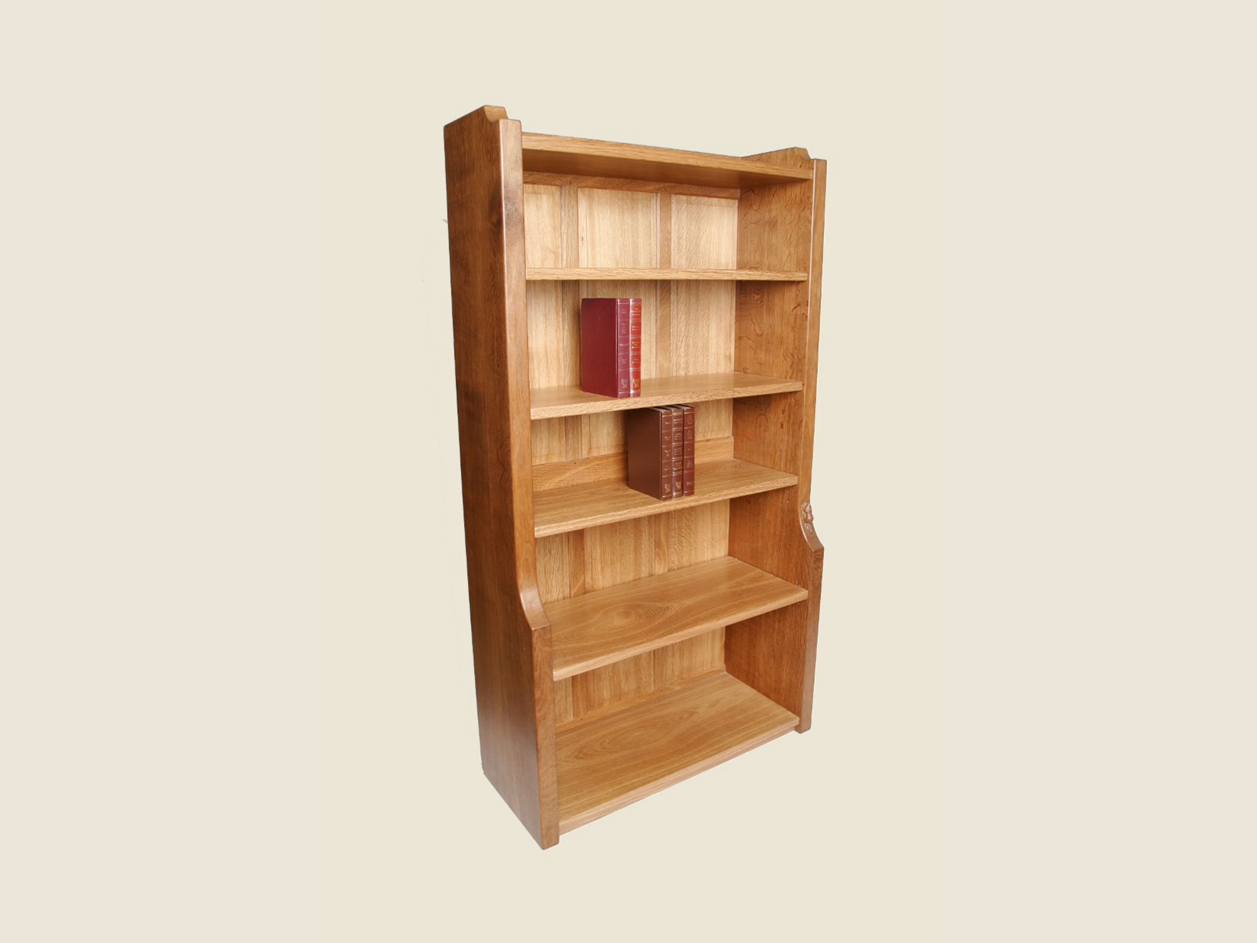BF902 Oak Solid End Bookcase