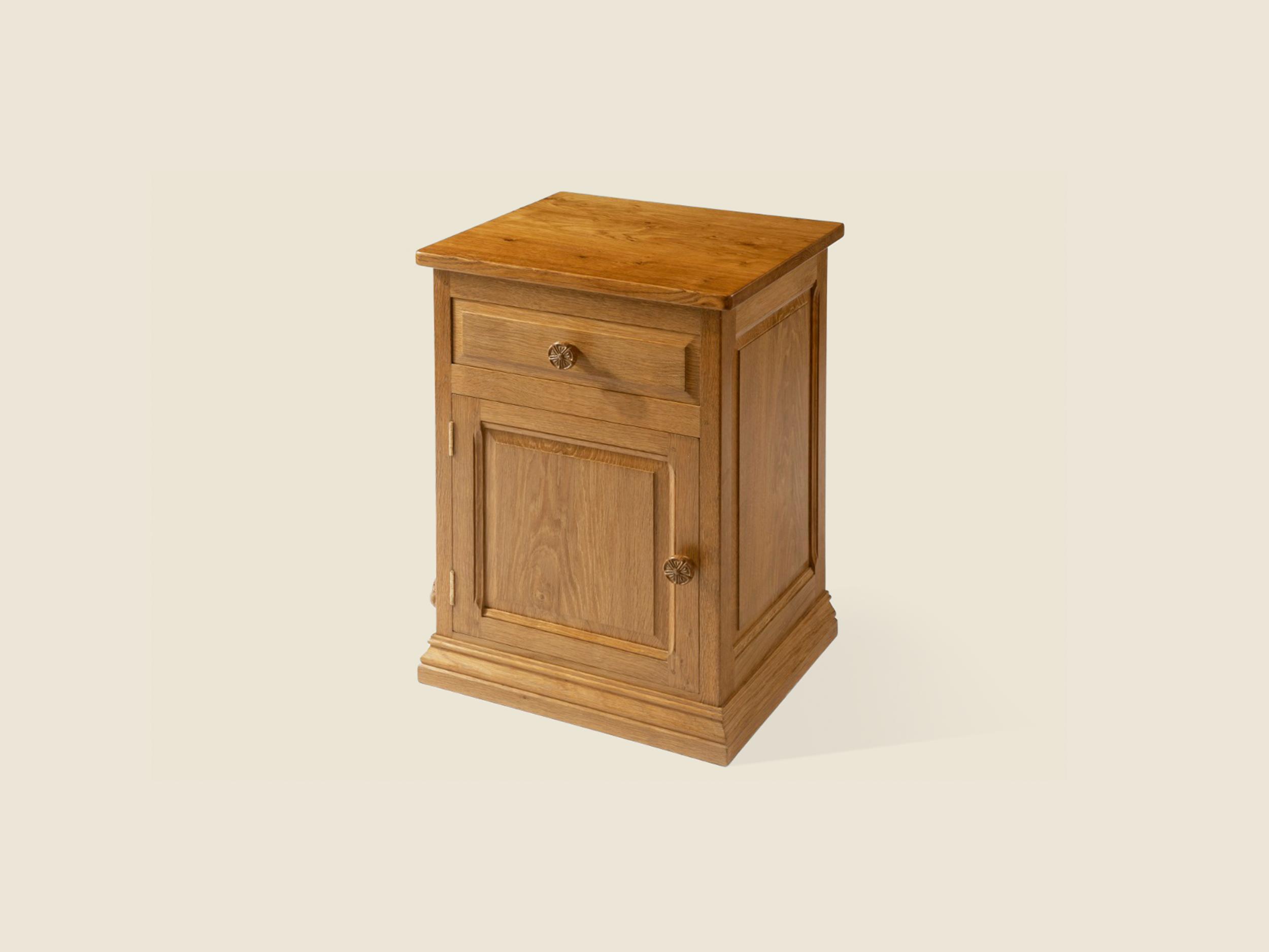 BF705 Oak Bedside Cabinet