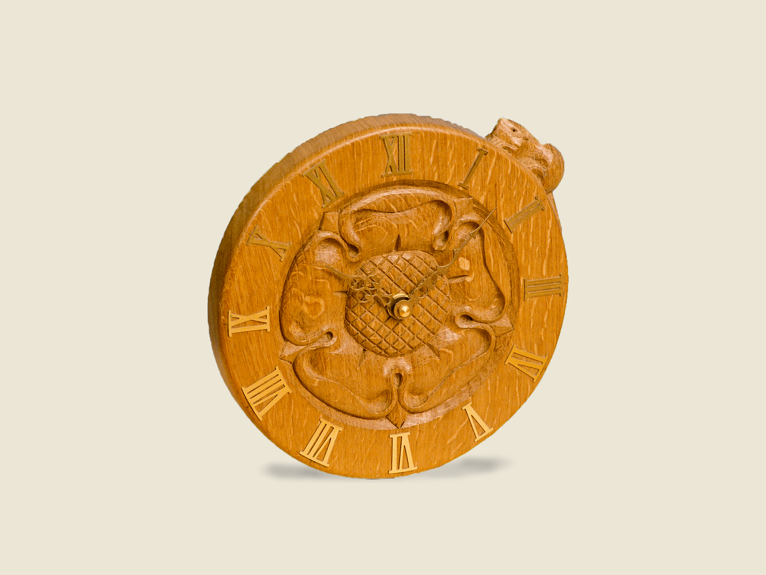 BF804 Yorkshire Rose Clock