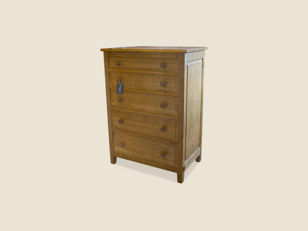 BF610 Solid Oak Chest of Drawers