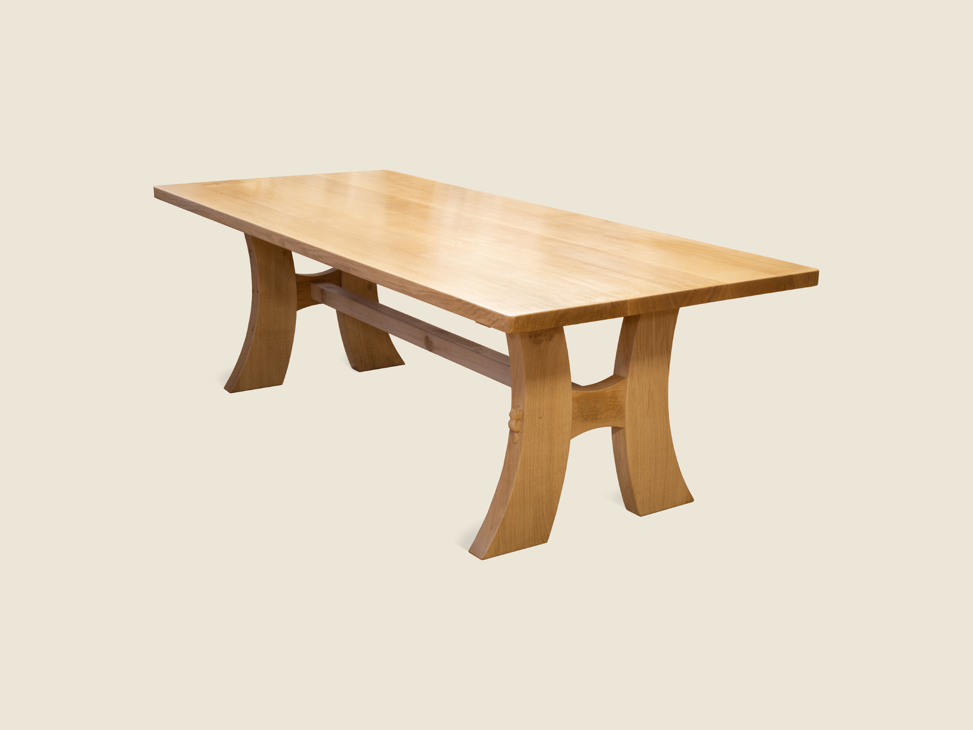 BF115 Contemporary Solid Oak Dining Table