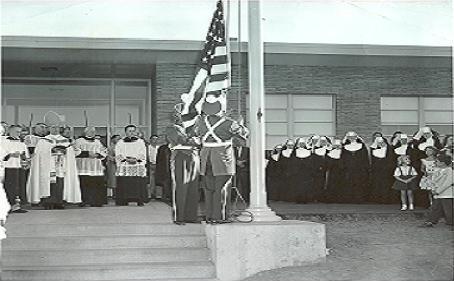 Saint Joseph's School 1955 opening day.