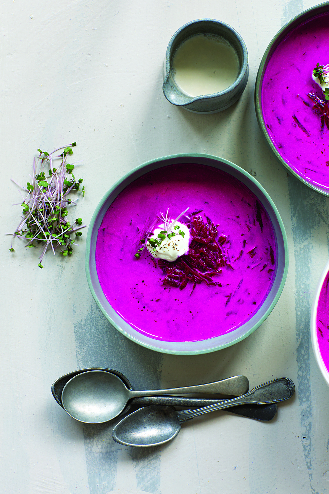 Robyn Lea, Brightest Borscht with Sour Cream & Fresh Dill, Props styling: Bec Cole, Food styling: Deb Kaloper