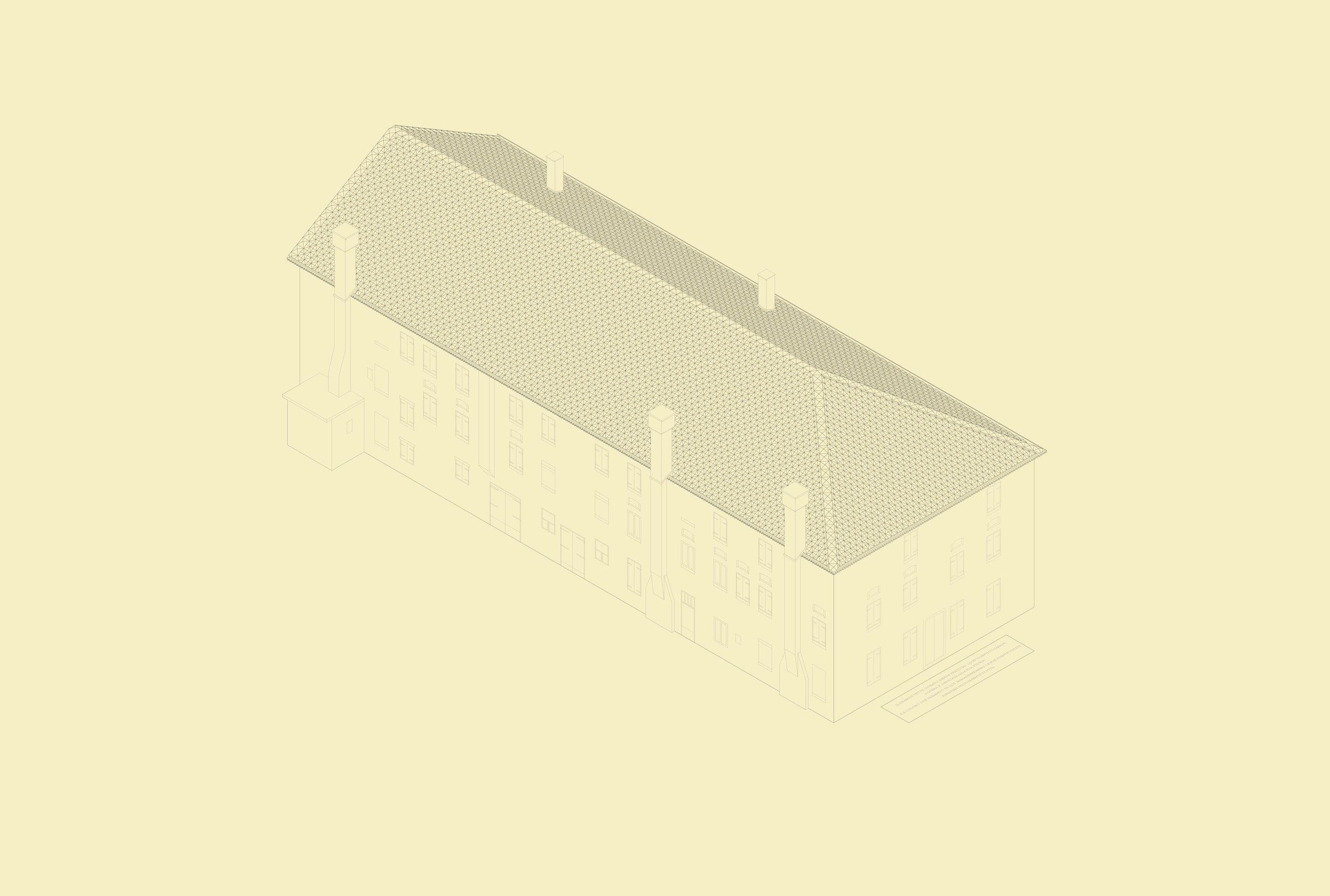 Alberto Garutti,  Il grande tetto dorato rende prezioso questo antico casale. Quest'opera è dedicata alla sua storia e a coloro che passando di qui immagineranno le sue stanze vuote riempirsi nuovamente di vita. , progetto, 2017