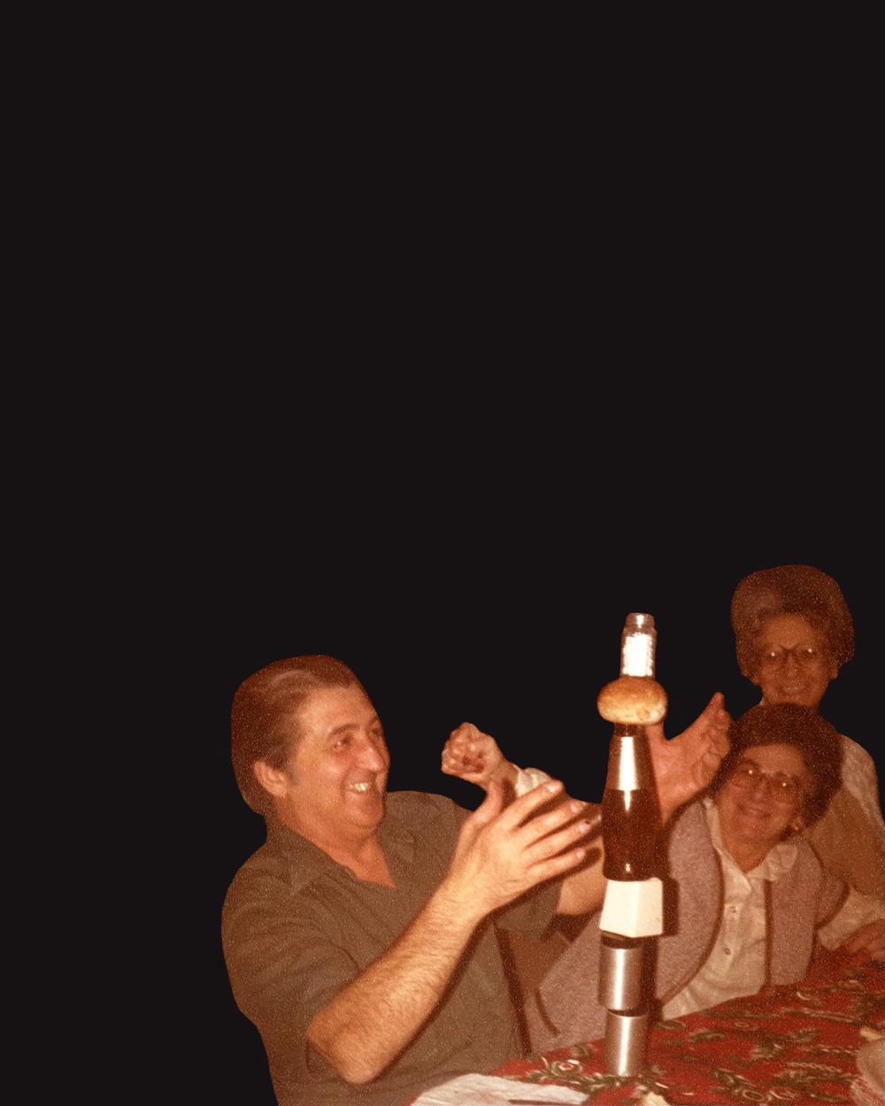 Il gioco dell'equilibrio del nonno della Maguire. © Michelle Maguire