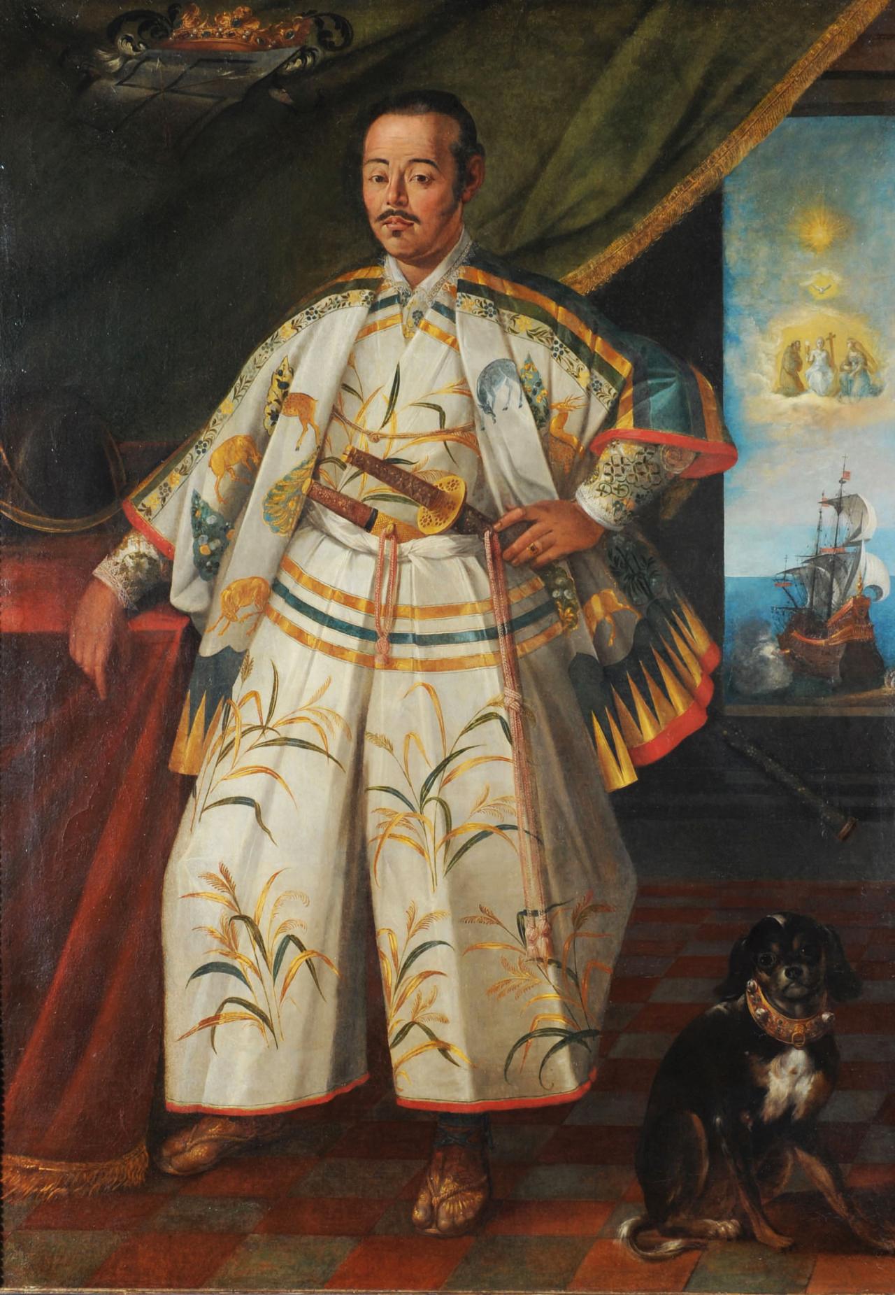 Hasekura Tsunenaga, il diplomatico giapponese e samurai che girò il mondo conosciuto tra il Cinquecento e il Seicento, in un ritratto del 1615 di Claude Deruet, durante un soggiorno a Roma.