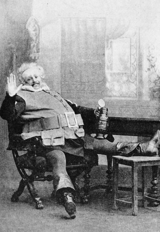 Ritratto di Bohumil Benoni, cantante lirico ceco, nel ruolo di Falstaff nel 1894.