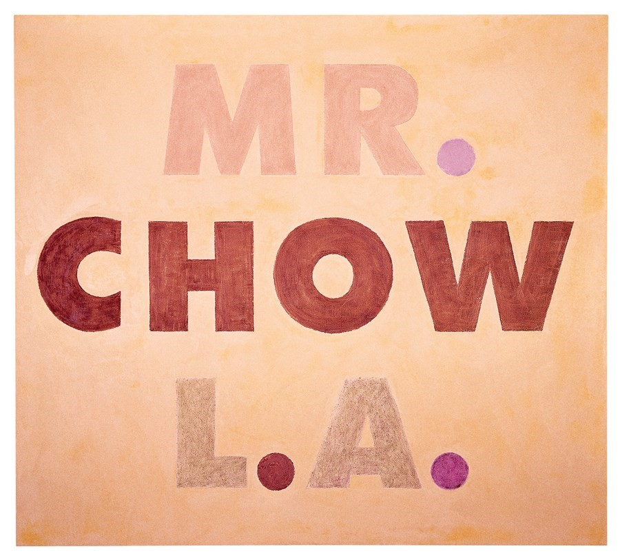 """""""Mr Chow L.A."""" (1973) di Ed Ruscha."""