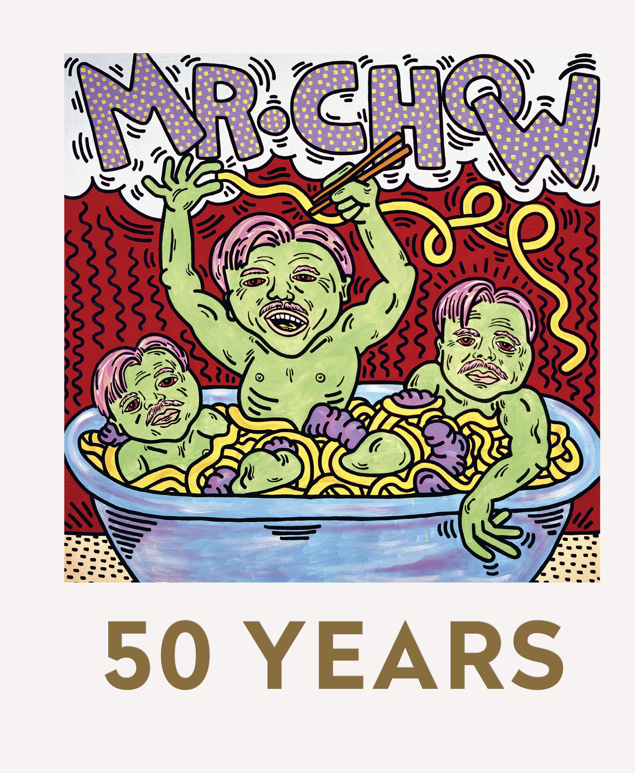 """La copertina del libro """"MR Chow: 50 Years"""", edito da Prestel, realizzata da Keith Haring."""