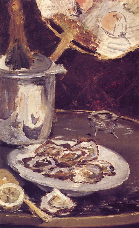 Édouard Manet, Huîtres et seau à champagne, 1876-77, collezione privata