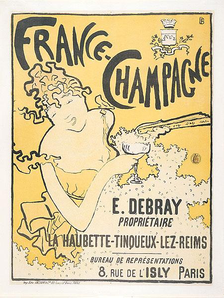 Poster pubblicitario per Debray Champagne, 1891