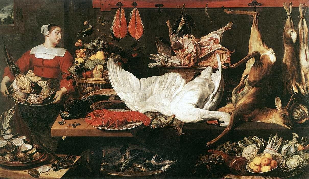 """Frans Snyders, """"The Pantry"""", XV-XVI secolo"""