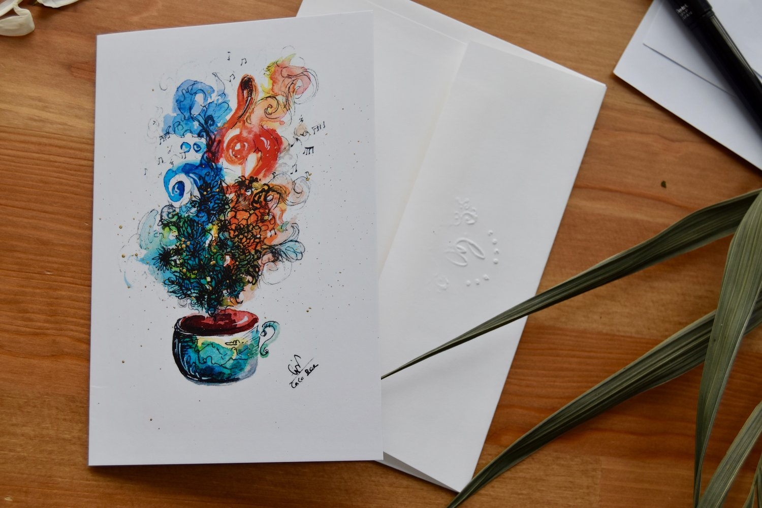 Make Your Own Watercolor Greeting Card Set Coco Bee
