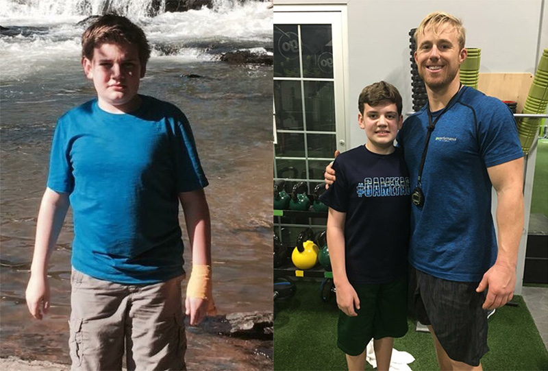 goperformance athlete Zak Feigen before and after photos.