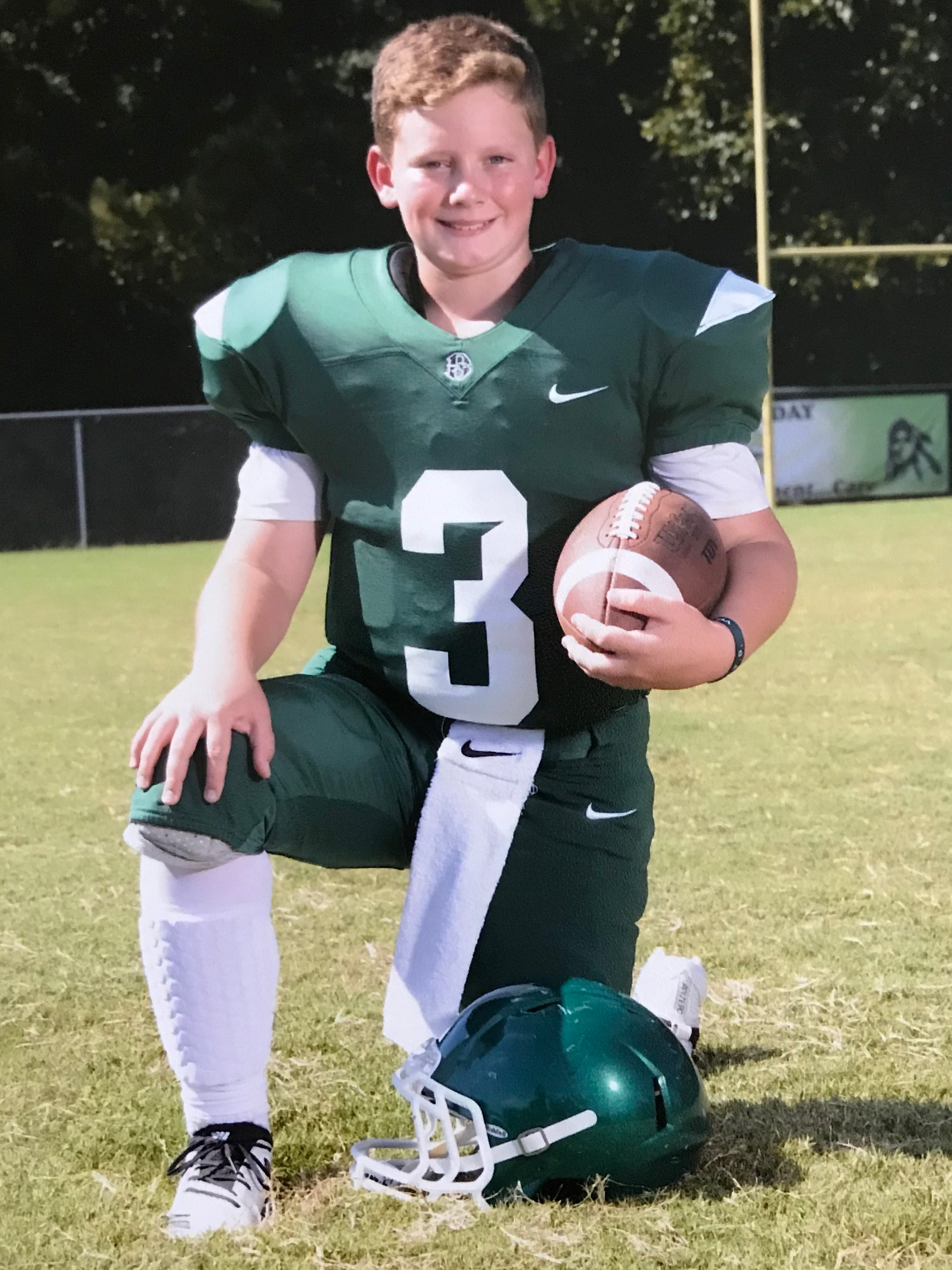 BEN LOGAN - Our athlete of the month this month is Booth Middle Schooler, Ben Logan. He's entering eighth grade and plays football, basketball and golf. This summer he's a part of a summer swim league.Describe training at goperformance in three words: Worthwhile. Gratifying. Fun.