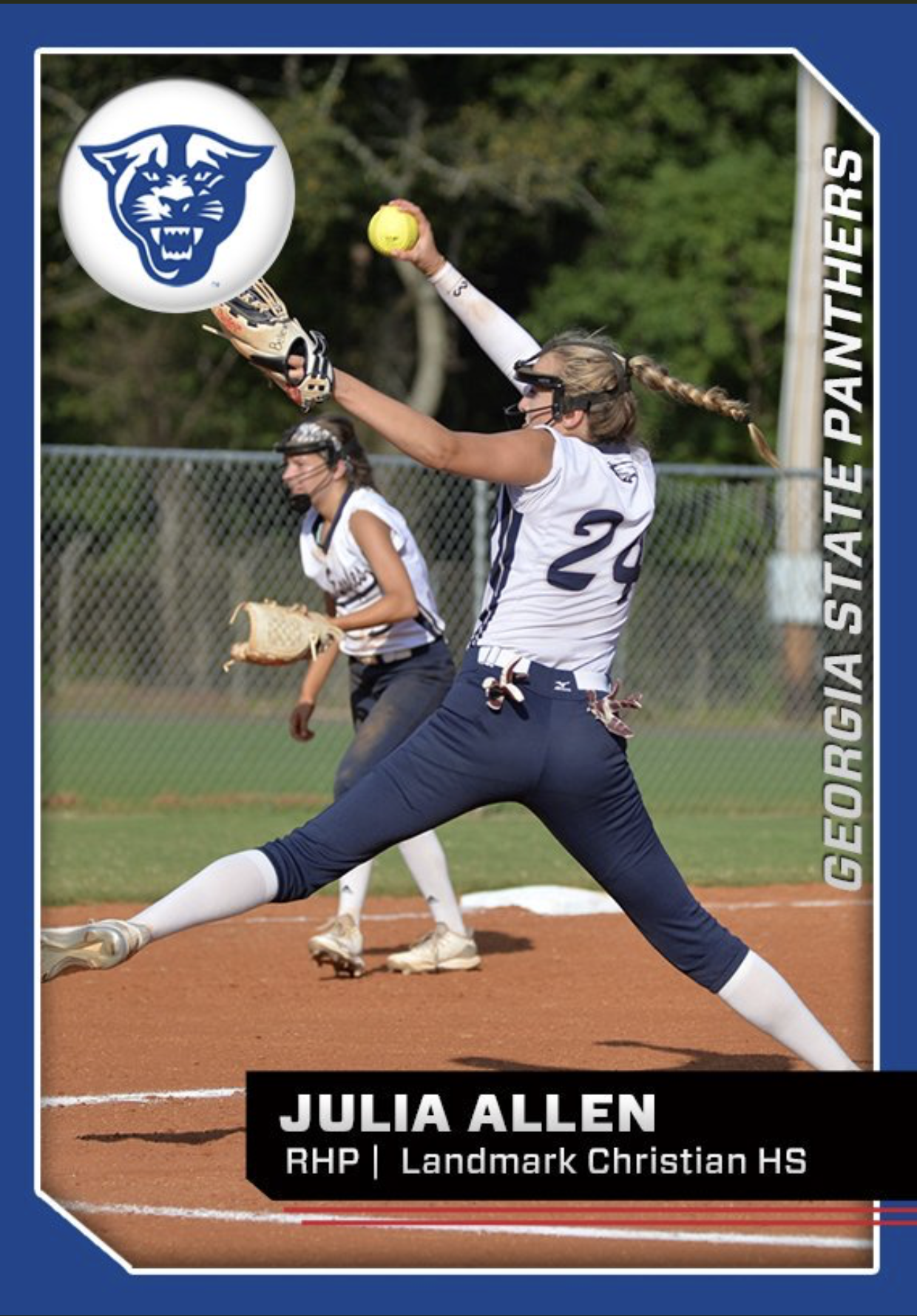 JULIA ALLEN - Julia has been training at goperformance in and out of season for the past five years. Her older brother also trained with us.She's a recent graduate of Landmark Christian School and signed to play softball at Georgia State University.