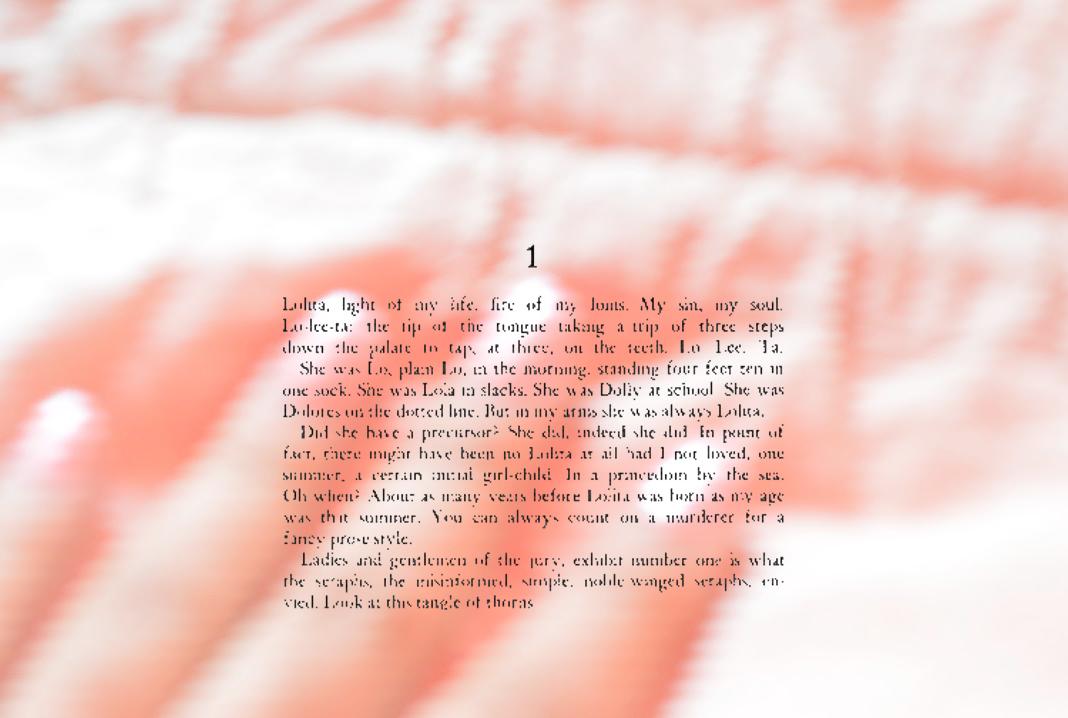 Image by Nadia Al Khunaizi, featuring text from  Lolita  by Vladimir Nabokov