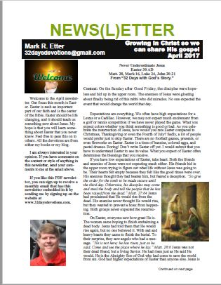 April Newsletter front