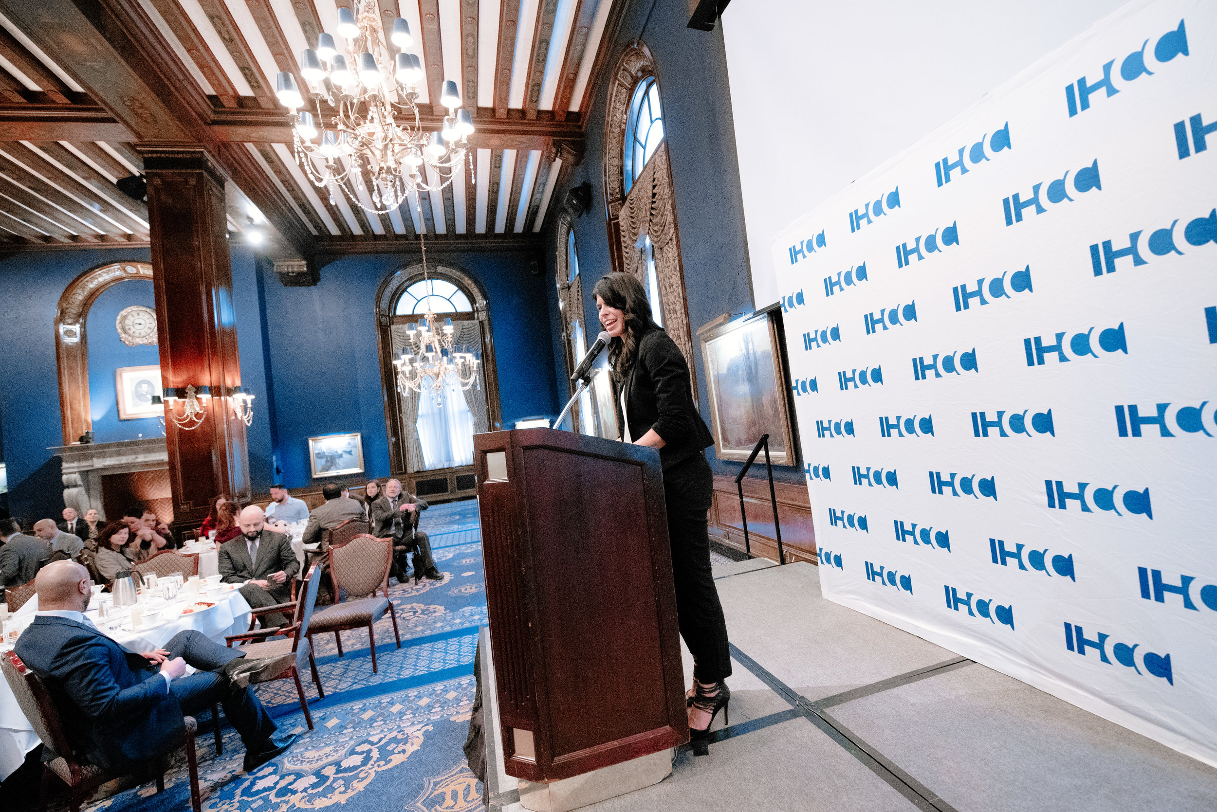 IHCC program director Liana Bran at an IHCC Breakfast Meeting