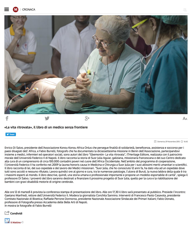 Gbemontin - Back again to life   http://www.ilmattino.it/napoli/cronaca/libro_medici_napoli-1389632.html