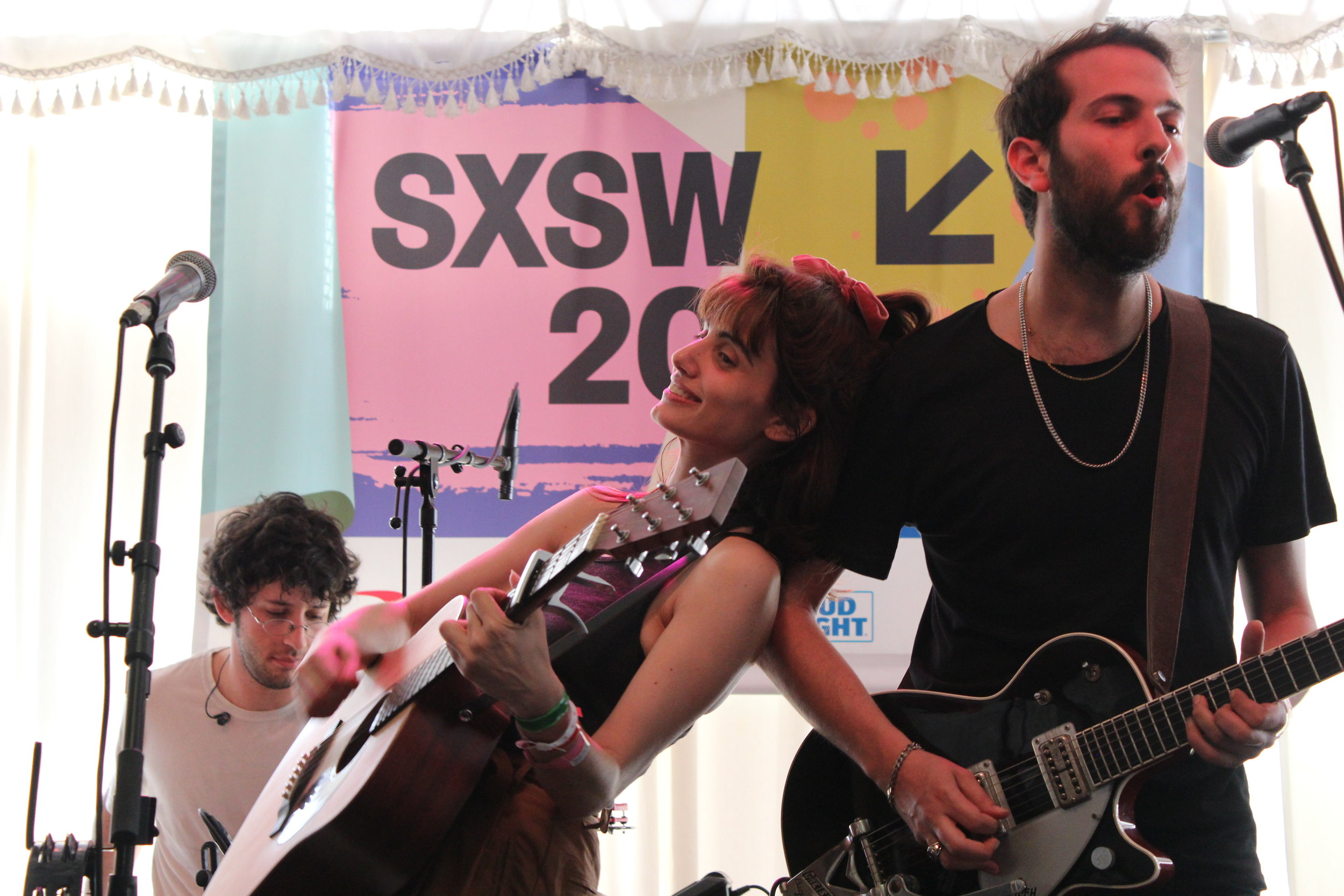 Tel Aviv-based Lola Marsh perform a stunning set at Swan Dive during SXSW Music Festival on March 17. Photo credit: Wendy Goodman