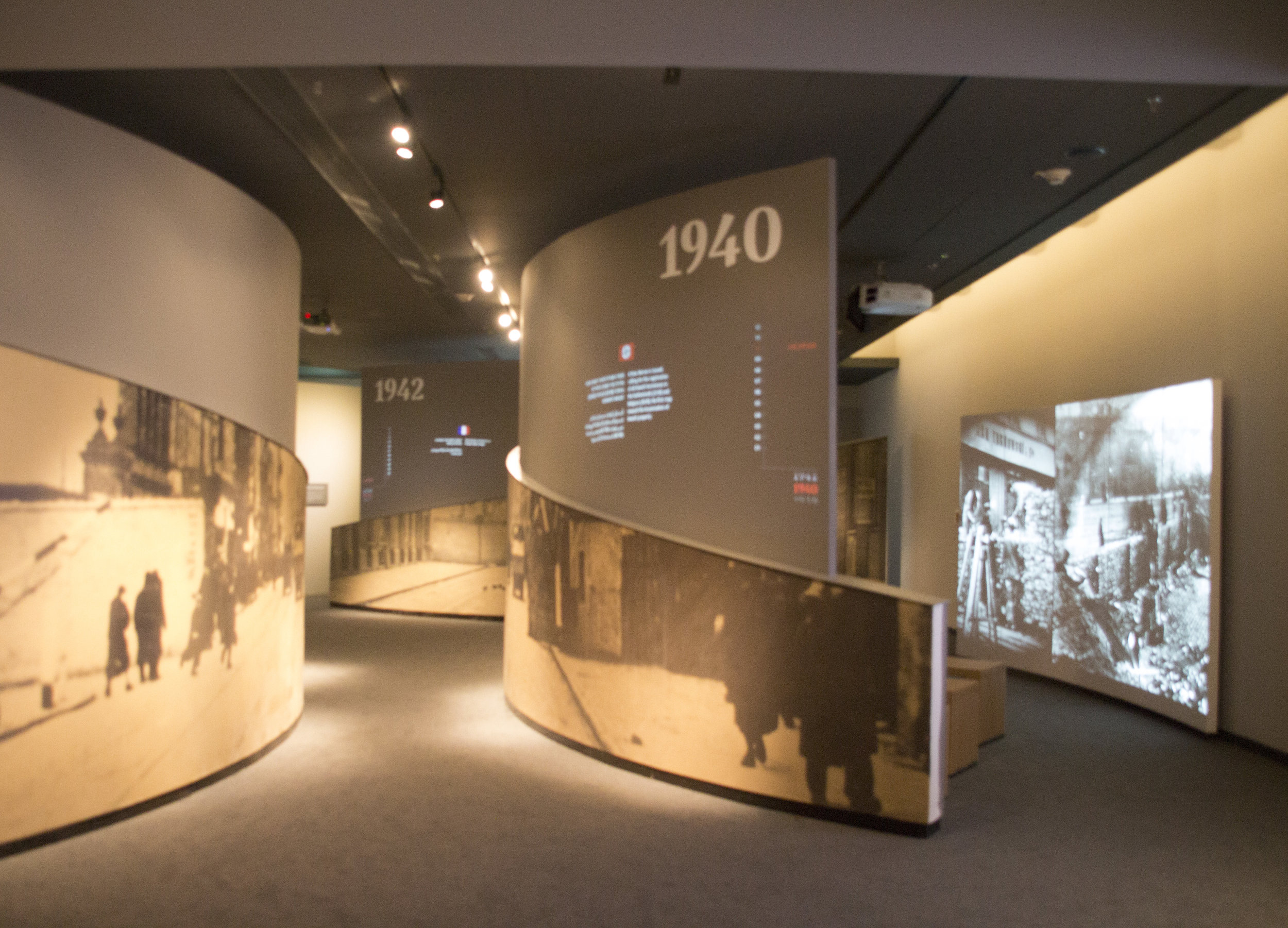 An audio-visual exhibit at the Ghetto Fighters' Museum. Photo credit: Wendy Goodman