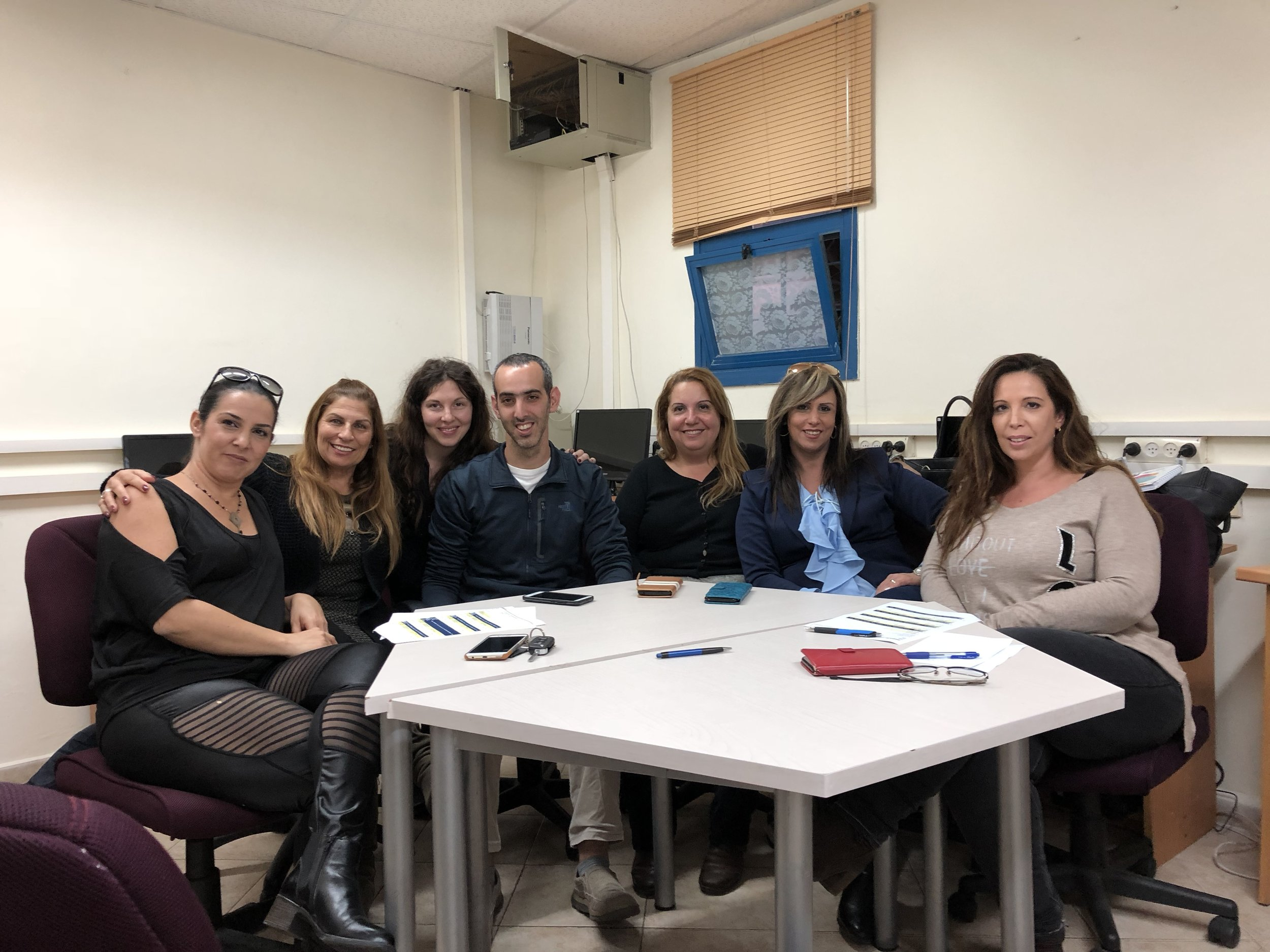 Shalom Austin Communications Director, Wendy Goodman with P2G educators in Akko, Israel. Photo credit: Daniel Perry