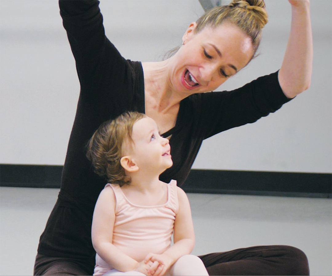 Ballet Austin @ the J Dance with Me class for Dance with Me for 18-month to 2-year-olds. Courtesy of Ballet Austin.