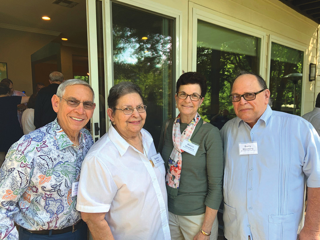 Marvin Brittman, Sandra Freed, Marcia and Barry Silverberg. Credit: Amy Hyman