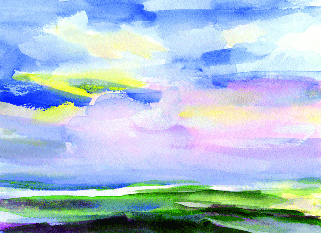 Clouds Passing Over by Donna Crosby.