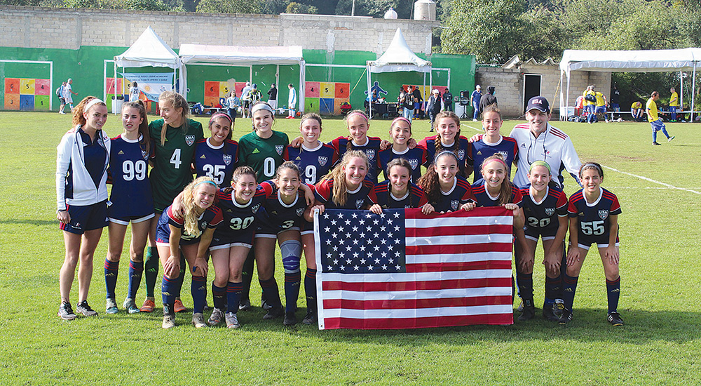 Maccabi USA U18 Juniors Girls' Soccer Team. Credit: Liza Lewis.